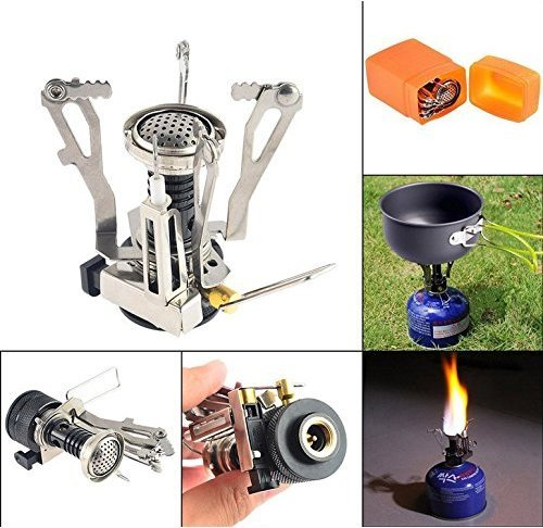 Biowow Camping Hiking Stove and Camping Pot Backpacking Cookware Set Art Offer Best