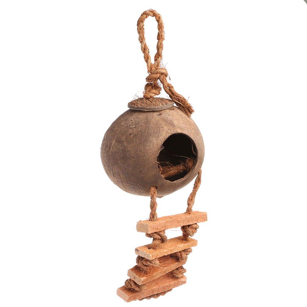 ueetek Nido para pájaros Casa para pájaros Casa para pájaros de madera con escalera: Amazon.es: Productos para mascotas