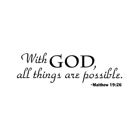 Amazoncom Bcdshop Wall Decals Quotes With God All Things Are