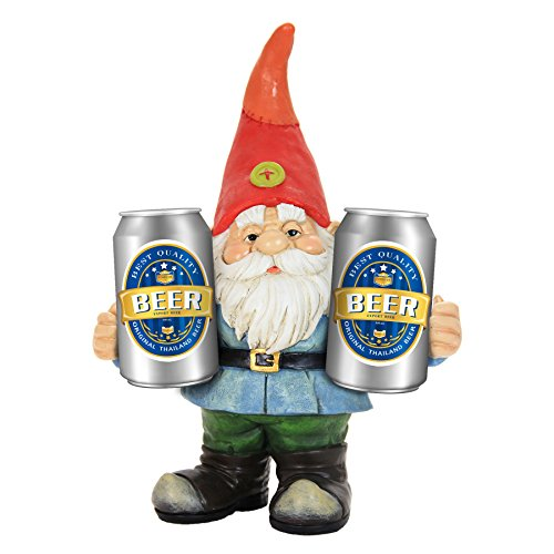 Exhart 13 Inch Two-Can Gnome, Statuary, Welcome, Office/Front Yard/Backyard / Inside/Outside, Gnomes