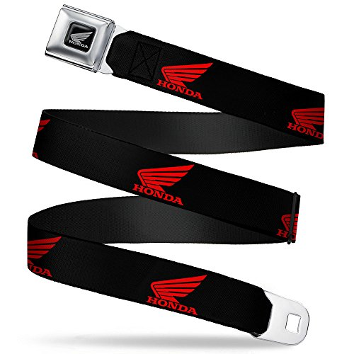 Belt - HONDA Motorcycle Logo Black/Red - 1.5
