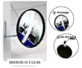 Security and Safet Mirror Convex Mirror Circular Acrylic Security Mirror 9''(22cm) for Blind Spots at Home, Driveway, Offices, Stores and Traffic with Adjustable Fixing Bracket Traffic Mirror
