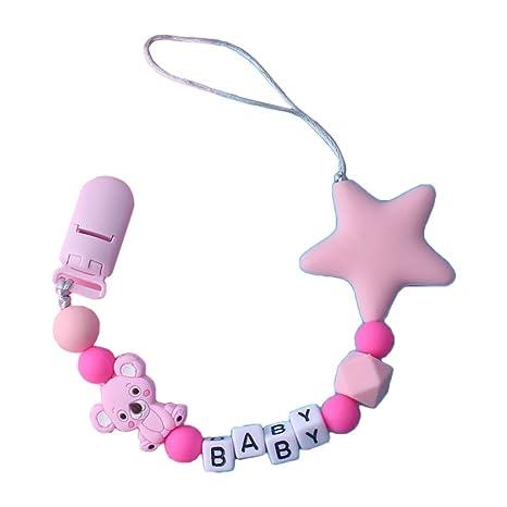 Chupete infantil con cadena de silicona con clip para apelar ...