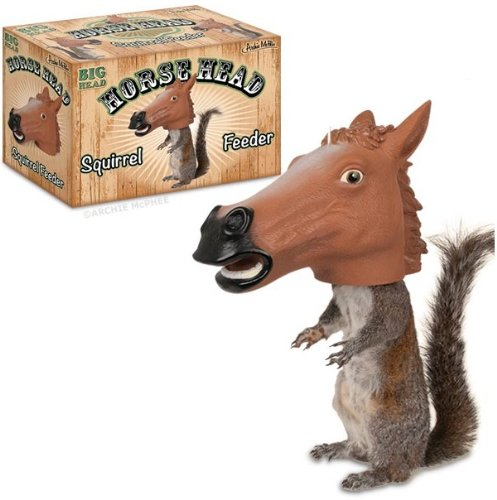 Accoutrements Horse Head Squirrel Feeder (Bath Woodland Bird Squirrel)