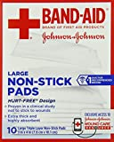 Band-Aid Brand Adhesive Bandages, Large Non-Stick Pads, 10 3-
