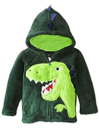 DD-CM Little Boys Animal Dinosaur Fur Fleece Hoodies Coat Jackets