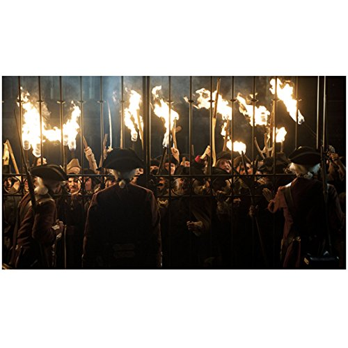 - A Royal Affair Townspeople Pressing Against Gate Fiery Torches in Hand 8 x 10 inch photo