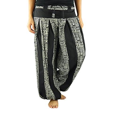 f02216ca4d0 virblatt one-size-fits-all long harem pants S-L - Friedvoll durable modeling