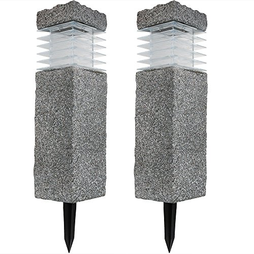 Bollard Solar Lights Set