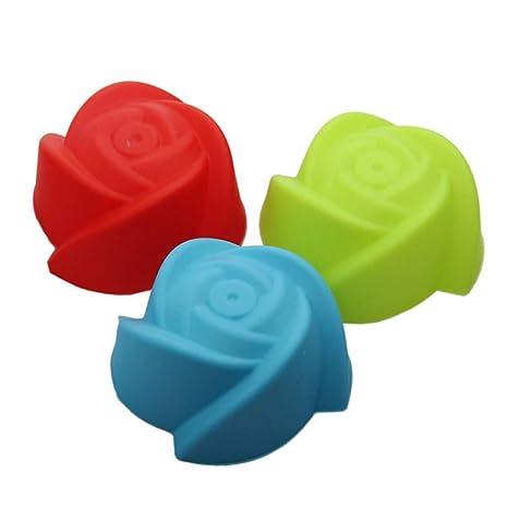 50 Piezas de Silicona Cupcake para Hornear Tazas antiadherentes moldes para Pasteles a Prueba de Calor