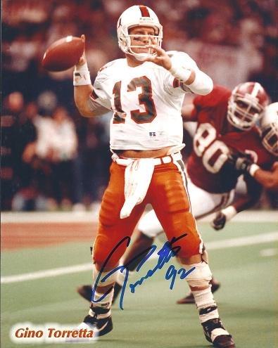 Trophy 1992 Heisman - Gino Torretta Signed - Autographed Miami Hurricanes UM 8x10 inch Photo - Guaranteed to pass PSA or JSA - 1992 Heisman Trophy Winner