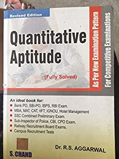 Pdf aptitude quantitative latest 2012 rs agarwal