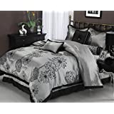 Impressions Treasures Amaysia 7 Piece Microfiber Bed-in-A-Bag Set, Queen