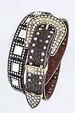 Trendy Fashion Jewelry Square Crystal Embellished Statement Belt By Fashion Destination