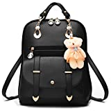 MSXUAN Fashion Embroidered Leather Backpack Shoulder Bag For Women