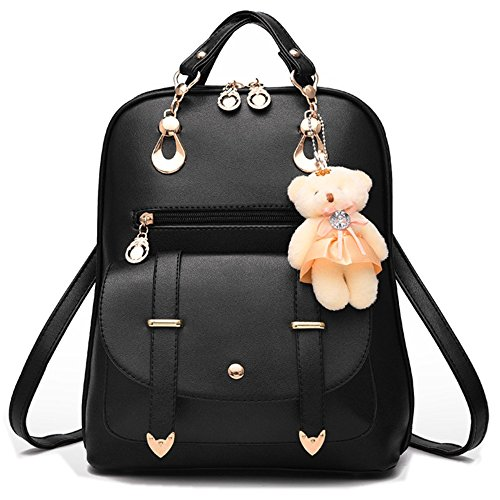 MSXUAN Fashion Embroidered Leather Backpack Shoulder Bag For Women by MSXUAN