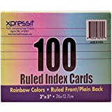 (Pack of 36, 3600 Ct) Xpressit Index Cards Colored, 100ct, 3x5in