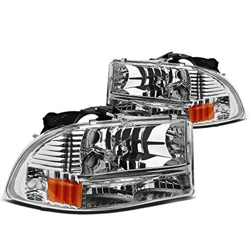 DNA Motoring HL-DDUR97-CH-AM Headlight Assembly, Driver & Passenger Side