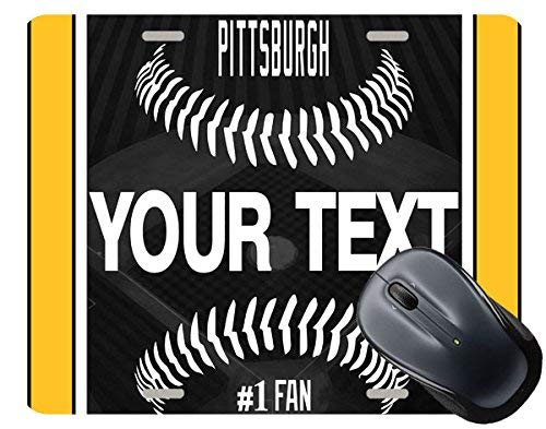(BRGiftShop Personalize Your Own Baseball Team Pittsburgh Square Mouse Pad)