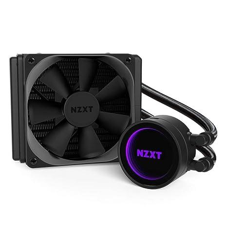 NZXT Kraken M22 120 mm - Refrigerador líquido de CPU RGB - con tecnología CAM - Diseño de Espejo Infinito - Tubos extendidos Reforzados - Ventilador ...