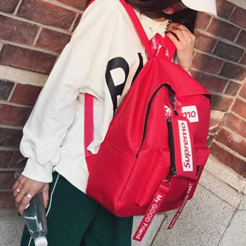 d'école bandoulière toile femmes air capacité unie dos plein Grande à sac à en à sac adolescentes dos casual couleur Oyamihin sac sac qt17wZxE