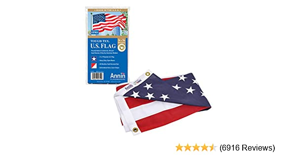 UNITED STATES OF AMERICA FLAG 3/'X5/' 600D ROUGH TEX EMBROIDERED STARS STRIPES BOX