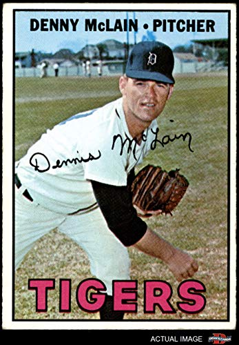 1967 Topps # 420 Denny McLain Detroit Tigers (Baseball Card) Dean's Cards 3 - VG Tigers