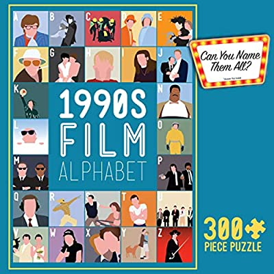 Buffalo Games -1990's Film Alphabet - 300 Piece Jigsaw Puzzle: Toys & Games