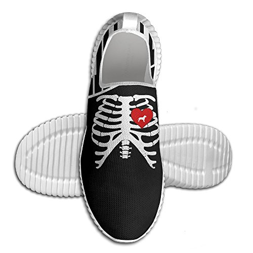 Skeleton Rib Cage Costume Halloween With PITBULL Mens Running Sneaker Lightweight Go Easy Walking Casual Comfort Sports Running Shoes
