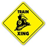 TRAIN CROSSING Sign xing railroad collector room