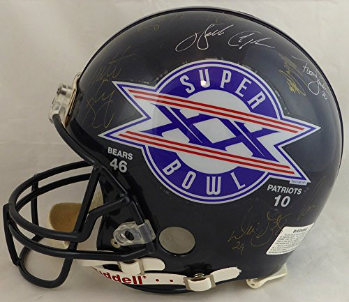 1985 Chicago Bears Super Bowl XX Champions Multi Signed Autographed Full Size Authentic Proline Helmet With 14 Signatures Including Walter Payton Beckett BAS #A87001