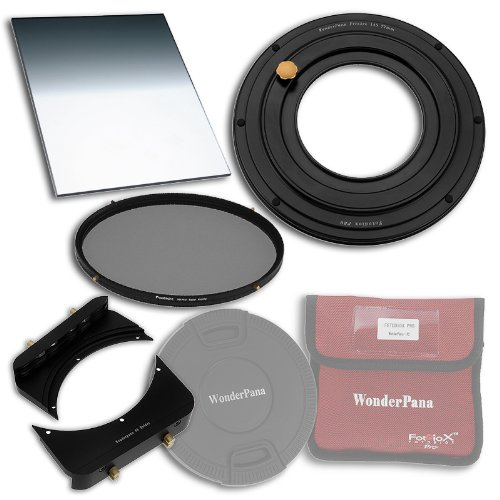 WonderPana FreeArc 82mm Step-Up Ring Essentials ND Kit from Fotodiox Pro - Anodized Black Metal Aluminum Step Up Ring for 82mm Lens Threads, 6.6x8.5