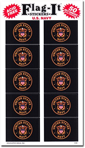 Innovative Ideas Navy - Military Stickers (50 Pack)