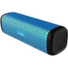 COWIN 6110 Bluetooth Speakers, Portable Wireless Speaker 4.1 with 16W Enhanced Bass, High-End Fashion Aluminum-Alloy Shell, TF Card Support - Blue