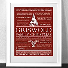 Quotes From Christmas Vacation.Customized Christmas Vacation Quotes Art Print Frame Not Included