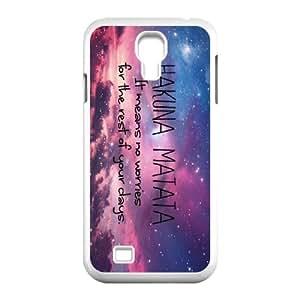 [QiongMai Phone Case] For SamSung Galaxy S4 Case -Hukuna Matata Quotes-IKAI0446284