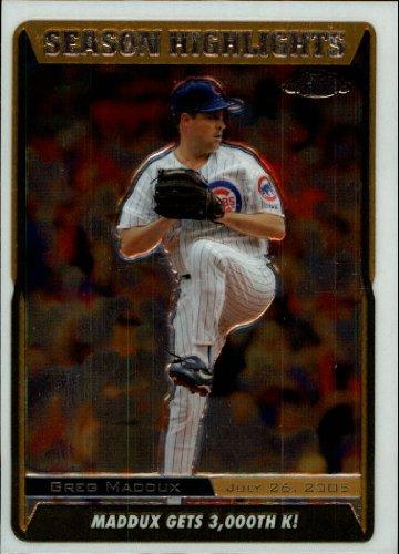 2005 Topps Chrome Update Baseball Card #217 Greg Maddux Near Mint/Mint