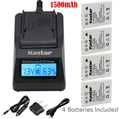 Kastar Ultra Fast Charger(3X faster) Kit and Battery (4-Pack) for Nikon EN-EL8, Nikon MH-62 work with Nikon Coolpix P1, Coolpix P2, Coolpix S1, Coolpix S2, Coolpix S3, Coolpix S5, Coolpix S6, Coolpix S7, Coolpix S7c, Coolpix S8, Coolpix S9, Coolpix S50, Coolpix S50c, Coolpix S51, Coolpix S51c, Coolpix S52, Coolpix S52c, Cool-Station MV-11, MV-121 Cameras [Over 3x faster than a normal charger with portable USB charge function]