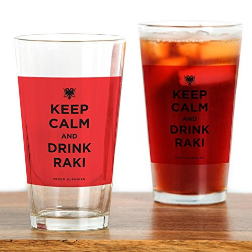 Raki Glass (CafePress - Keep Calm And Drink Raki - Pint Glass, 16 oz. Drinking Glass)