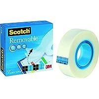 Scotch M8111966 tape Magic 811, cellulose acetaat, onzichtbaar, verwijderbaar, 66 m x 19 mm 33 m x 19 mm kleurloos