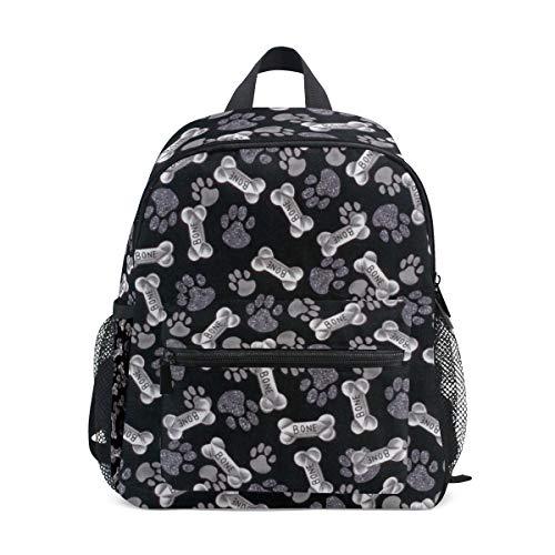 Bone Dog Paw Print School Backpack for Boys Kids Primary School Bags Children Backpacks