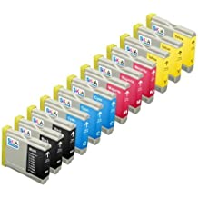 Skia Ink Cartridges ¨ 12 Pack Compatible with Brother LC51(LC51BK LC51C LC51M LC51Y) for MFC-230C, MFC-240C, MFC-3360C, MFC-440CN, MFC-465CN, MFC-5460CN, MFC-5860CN, MFC-665CW, MFC-685CW, MFC-845CW, MFC-885CW, Intellifax 1860C