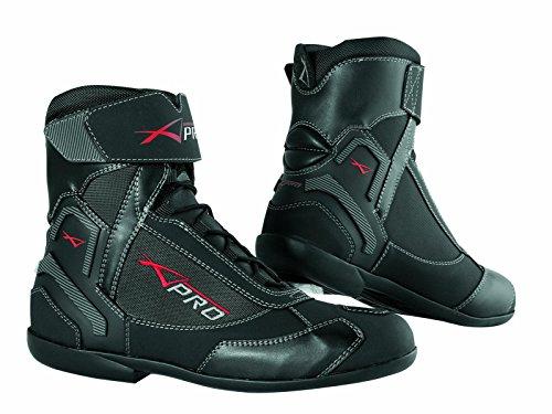 Wasserdichte Schuhe Motorrad Stiefel Sport Touring Roller A-Pro Schwarz 43