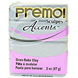 Sculpey Premo Premium Polymer Clay (Silver) [4 Pieces] - Product Description - Sculpey Premo Premium Polymer Clay- Color: Silver- Size: 2 Oz.This Remarkable Clay Quickly Reaches A Workable State (With Minimum Conditioning), And Remains Soft And ...