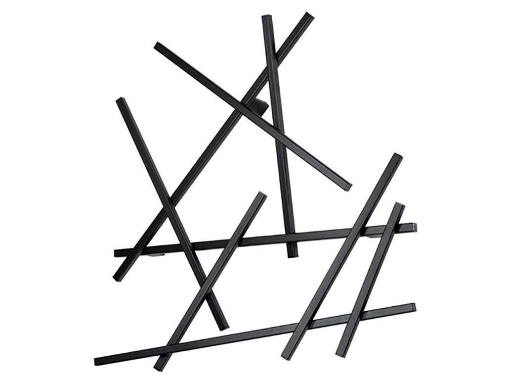 Spinder Design - Matches XS Wandgarderobe / Garderobe - 80x75x10 cm - 7 Haken - Schwarz