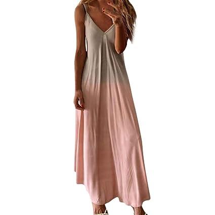 Vestidos Mujer Casual,Wave166 Vestido cuello hálter De Verano ...