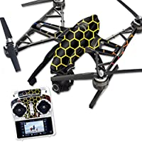 MightySkins Protective Vinyl Skin Decal for Yuneec Q500 & Q500+ Quadcopter Drone wrap cover sticker skins Primary Honeycomb