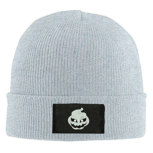 NO4LRM Men Women Halloween Ghost Mask Warm Stretchy Solid Daily Skull Cap Knit Wool Beanie Hat Outdoor -
