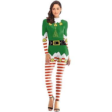 Christmas Jumpsuit Womens.Amazon Com Smallrabbit Womens Christmas Jumpsuit Long
