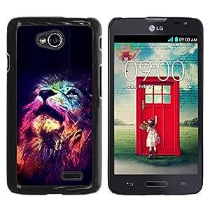 Paccase / SLIM PC / Aliminium Casa Carcasa Funda Case Cover - Stars King Africa Night Pink Universe - LG Optimus L70 / LS620 / D325 / MS323